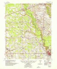 Marianna, Arkansas 1957 (1957) USGS Old Topo Map Reprint 15x15 AR Quad 260173