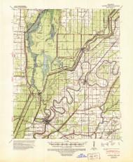 Marked Tree, Arkansas 1941 (1946) USGS Old Topo Map Reprint 15x15 AR Quad 260176