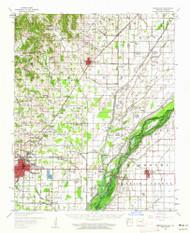 Marmaduke, Arkansas 1958 (1962) USGS Old Topo Map Reprint 15x15 AR Quad 260183