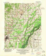 Marmaduke, Arkansas 1940 (1954) USGS Old Topo Map Reprint 15x15 AR Quad 260180