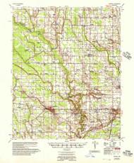 Marvell, Arkansas 1956 (1957) USGS Old Topo Map Reprint 15x15 AR Quad 260187