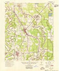 McGehee, Arkansas 1955 (1955) USGS Old Topo Map Reprint 15x15 AR Quad 260190