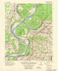 Mellwood, Arkansas 1954 (1954) USGS Old Topo Map Reprint 15x15 AR Quad 260195
