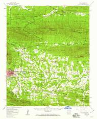 Mena, Arkansas 1958 (1959) USGS Old Topo Map Reprint 15x15 AR Quad 260196