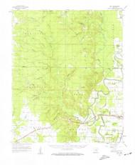 Mist, Arkansas 1960 (1961) USGS Old Topo Map Reprint 15x15 AR Quad 260198