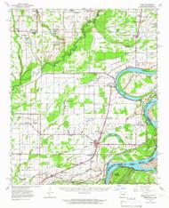 Modoc, Arkansas 1963 (1966) USGS Old Topo Map Reprint 15x15 AR Quad 260202