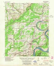 Modoc, Arkansas 1948 (1955) USGS Old Topo Map Reprint 15x15 AR Quad 260200