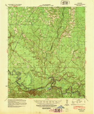 Moro Bay, Arkansas 1939 (1948) USGS Old Topo Map Reprint 15x15 AR Quad 260207