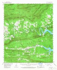 Mount Ida, Arkansas 1959 (1968) USGS Old Topo Map Reprint 15x15 AR Quad 260209
