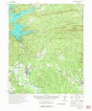 Murfreesboro, Arkansas 1972 (1973) USGS Old Topo Map Reprint 15x15 AR Quad 260217