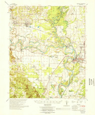 Newport, Arkansas 1966 (1966) USGS Old Topo Map Reprint 15x15 AR Quad 260221