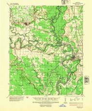 Newport, Arkansas 1935 (1954) USGS Old Topo Map Reprint 15x15 AR Quad 260218