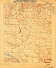 Dardanelle #1, Arkansas 1888 (1888) USGS Old Topo Map Reprint 15x15 AR Quad 260021