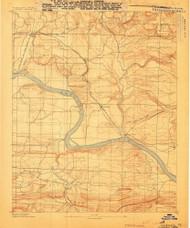 Dardanelle #2, Arkansas 1888 (1888) USGS Old Topo Map Reprint 15x15 AR Quad 260022