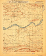 Magazine Mountain #1, Arkansas 1887 (1887) USGS Old Topo Map Reprint 15x15 AR Quad 260157