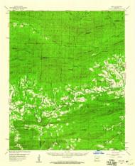 Oden, Arkansas 1959 (1960) USGS Old Topo Map Reprint 15x15 AR Quad 260225