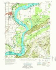 Osceola, Arkansas 1977 (1977) USGS Old Topo Map Reprint 15x15 AR Quad 260227
