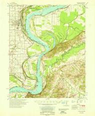 Osceola, Arkansas 1965 (1965) USGS Old Topo Map Reprint 15x15 AR Quad 260226
