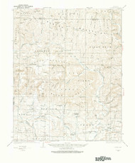 Ozone, Arkansas 1934 (1975) USGS Old Topo Map Reprint 15x15 AR Quad 260229