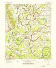Park Place, Arkansas 1962 (1976) USGS Old Topo Map Reprint 15x15 AR Quad 260237