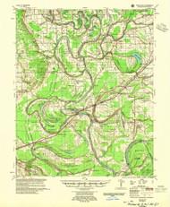 Park Place, Arkansas 1955 (1955) USGS Old Topo Map Reprint 15x15 AR Quad 260234