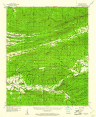 Parks, Arkansas 1960 (1961) USGS Old Topo Map Reprint 15x15 AR Quad 260241