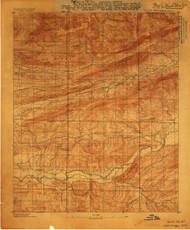 Mount Ida #2, Arkansas 1887 (1887) USGS Old Topo Map Reprint 15x15 AR Quad 260208