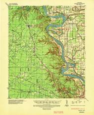 Pastoria, Arkansas 1935 (1947) USGS Old Topo Map Reprint 15x15 AR Quad 260245