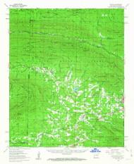 Potter, Arkansas 1958 (1963) USGS Old Topo Map Reprint 15x15 AR Quad 260255