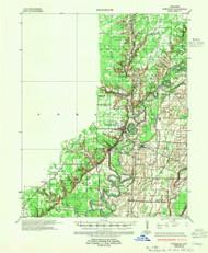 Powhatan, Arkansas 1935 (1955) USGS Old Topo Map Reprint 15x15 AR Quad 260259
