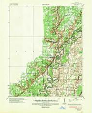 Powhatan, Arkansas 1935 (1949) USGS Old Topo Map Reprint 15x15 AR Quad 260257