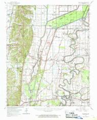 Princedale, Arkansas 1962 (1968) USGS Old Topo Map Reprint 15x15 AR Quad 260262