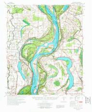 Readland, Arkansas 1972 (1972) USGS Old Topo Map Reprint 15x15 AR Quad 260267