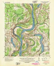 Readland, Arkansas 1939 (1947) USGS Old Topo Map Reprint 15x15 AR Quad 260266