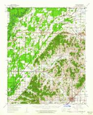 Rector, Arkansas 1958 (1962) USGS Old Topo Map Reprint 15x15 AR Quad 260271