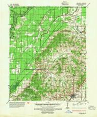 Rector, Arkansas 1935 (1954) USGS Old Topo Map Reprint 15x15 AR Quad 260268