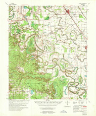 Rotan, Arkansas 1968 (1968) USGS Old Topo Map Reprint 15x15 AR Quad 260280