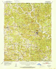 Salem, Arkansas 1951 (1951) USGS Old Topo Map Reprint 15x15 AR Quad 260284