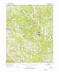 Salem, Arkansas 1950 (1976) USGS Old Topo Map Reprint 15x15 AR Quad 260282