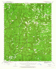 Smyrna, Arkansas 1940 (1964) USGS Old Topo Map Reprint 15x15 AR Quad 260291
