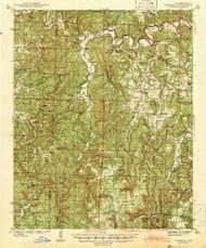 Snowball, Arkansas 1942 (1942) USGS Old Topo Map Reprint 15x15 AR Quad 260297