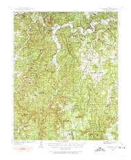Snowball, Arkansas 1939 (1974) USGS Old Topo Map Reprint 15x15 AR Quad 260295