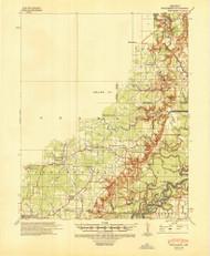 Strawberry, Arkansas 1941 (1946) USGS Old Topo Map Reprint 15x15 AR Quad 260308