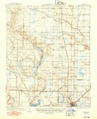 Stuttgart, Arkansas 1937 (1949) USGS Old Topo Map Reprint 15x15 AR Quad 260319