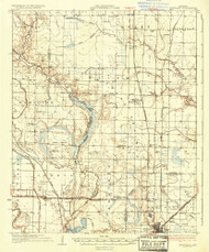 Stuttgart, Arkansas 1937 (1937) USGS Old Topo Map Reprint 15x15 AR Quad 260315
