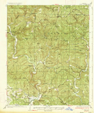 Treat, Arkansas 1934 (1934) USGS Old Topo Map Reprint 15x15 AR Quad 260330