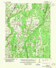 Tuckerman, Arkansas 1935 (1954) USGS Old Topo Map Reprint 15x15 AR Quad 260333