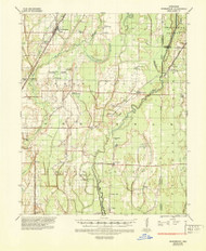 Tuckerman, Arkansas 1935 (1946) USGS Old Topo Map Reprint 15x15 AR Quad 260334