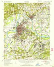 Van Buren, Arkansas 1947 (1954) USGS Old Topo Map Reprint 15x15 AR Quad 260340
