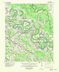 Varner, Arkansas 1935 (1957) USGS Old Topo Map Reprint 15x15 AR Quad 260343